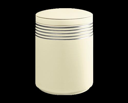 Bestattungsurne Nova Sandbeige Silber